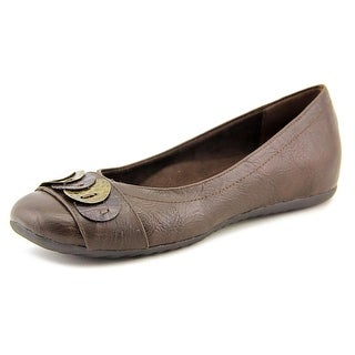 Easy Street Charlotte Women N/S Round Toe Synthetic Brown Flats