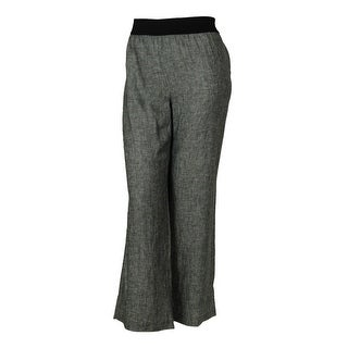 Alfani Women's Wide Leg Linen Fabric Elastic Waist Pants