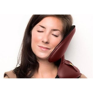NapAnywhere NARED Head Support Travel Pillow, Crimson
