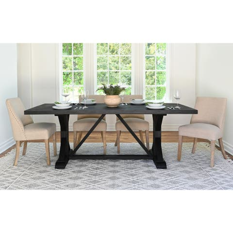 "Abbyson Stallion 84"" Wood Dining Table"