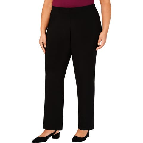 Alfred Dunner Womens Plus Casual Pants Classic Fit Pull-On - 20W