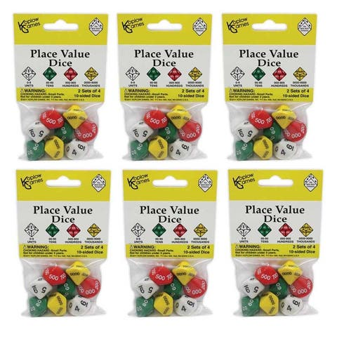 Koplow games (6 st) place value dice 11871bn