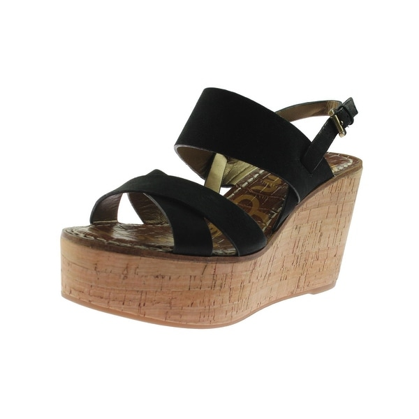 8195b4ac449 Shop Sam Edelman Womens Destiny Wedge Sandals Cork Slingback - Free ...
