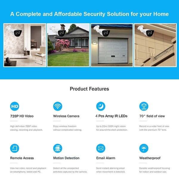 Wireless 720P HD WIFI IP Network Camera CCTV Outdoor Security IR Night LI