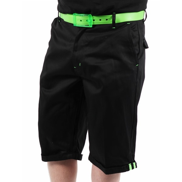 Akademiks Neon Flight 1 Men's Black Shorts