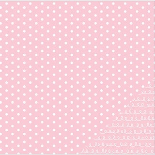 """American Crafts Basics Double-Sided Cardstock 12""""X12""""-Light Pink Dot"""