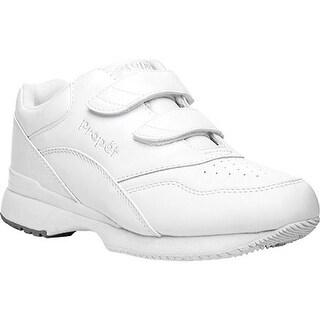 Propet Women's Tour Walker Strap Shoe White