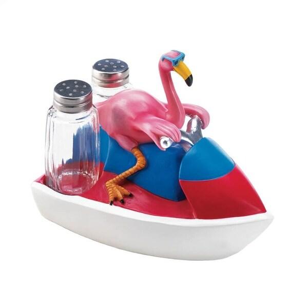 Beautiful Flamingo Jet Skiing Shakers