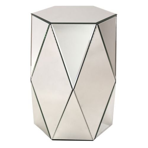 Aspire Home Accents 8920 Sienna Mirrored Pedestal Table