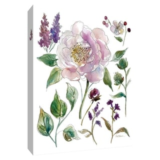 """PTM Images 9-148523  PTM Canvas Collection 10"""" x 8"""" - """"Soft Water Color IV"""" Giclee Flowers Art Print on Canvas"""