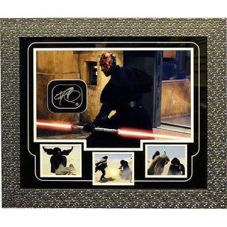 Darth Maul Dual Light Saber Side View Autographed Collage
