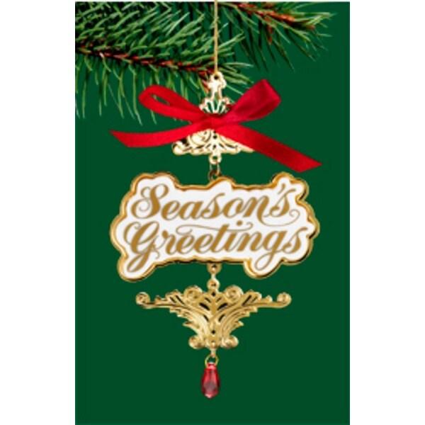 "Carlton Heirloom ""Season's Greetings"" Christmas Ornament #3740369"