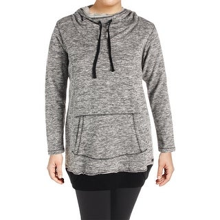 Marc New York by Andrew Marc Womens Hoodie Marled Cowl Neck