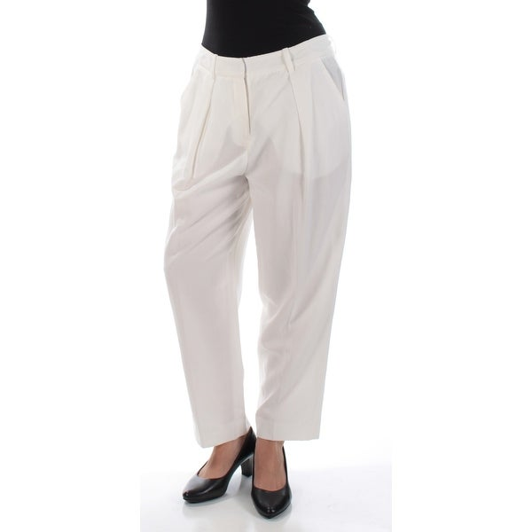 ANNE KLEIN Womens Ivory Pleated Pants Size: 6