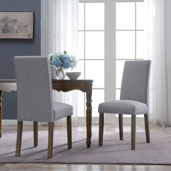 Accent Dining Room Chairs: Shop BELLEZE Set Of (2) Dining Chairs Linen Seat Cushion