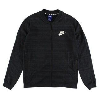 Nike Mens Sportswear AV15 Knit Jacket Black - BLACK/WHITE