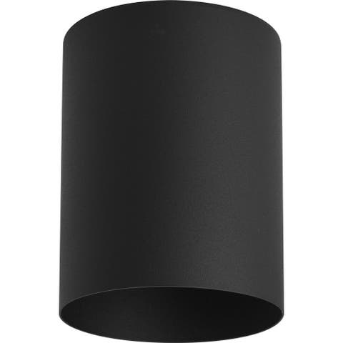 """5"""" Black Outdoor Ceiling Mount Cylinder - 8.460"""" x 6.500"""" x 6.500"""""""