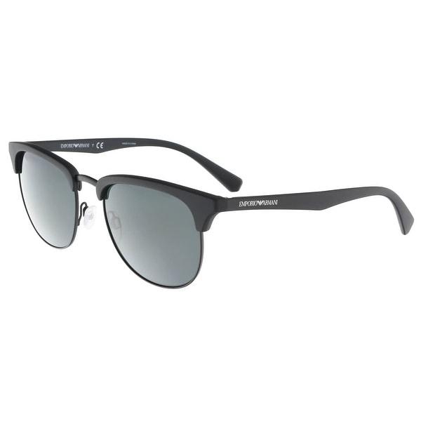 dbf6f4bdfc1d Emporio Armani EA4072 504287 Matte Black Square Emporio Armani sunglasses -  52-19-140