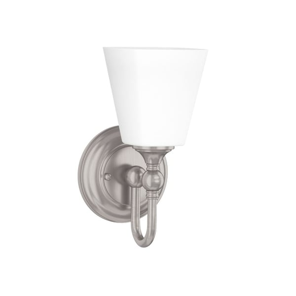 """Park Harbor PHVL2061 Matina 1-Light 5-1/4"""" Wide Bathroom Sconce with Frosted Glass Shade"""