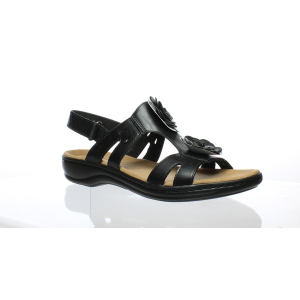 7798ad208977 Shop Clarks Womens 26125076 Black Leather Sandals Size 12 - Free ...