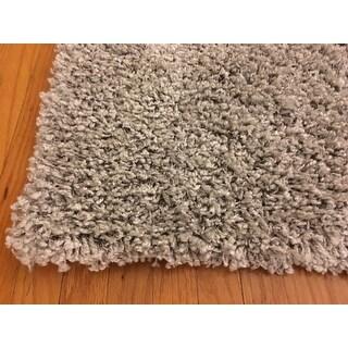 nuLOOM Alexa My Soft and Plush Solid Silver Shag Rug (8' x 10')