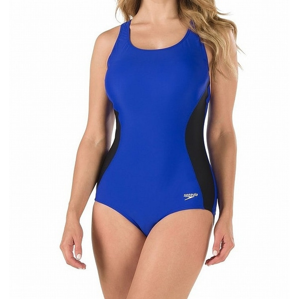 Vintage Pinup Girl Wearing Bathing Suit At The Ocean Stock: Shop Speedo Blue Womens Size 12 Two-Tone One-Piece Open