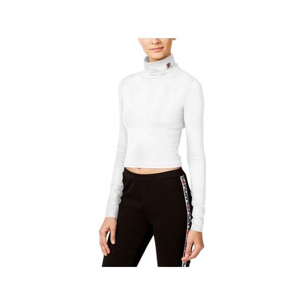 najniższa cena unikalny design klasyczne dopasowanie Fila Womens Annie Turtleneck Top Cropped Fitness