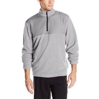 PGA Tour Mixed Media Quarter Zip Fleece Sweatshirt Sleet Grey Large