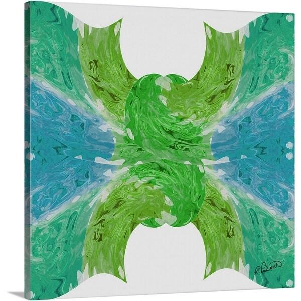 """""""Knot Green Blue"""" Canvas Wall Art"""