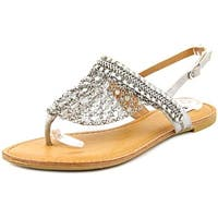 Not Rated Womens Gem Open Toe Casual Slingback Sandals, Silver, Size 7.0 - 7