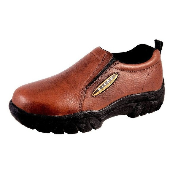 Roper Western Shoes Mens Leather Sport Slip Brown