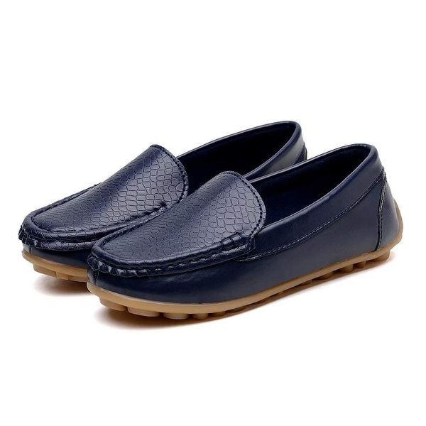 LSERVER Kids Boys Girls Toddlers Synthetic Leather Loafer Slip-on Boat Dress Oxford Shoes