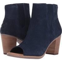 TOMS Women's Suede Majorca Peep toe Mid Calf Boot
