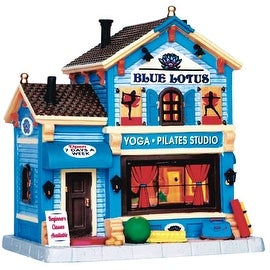 Lemax 55958 Blue Lotus Yoga Polyresin Christmas Village