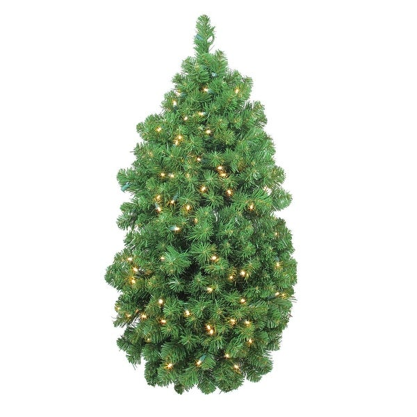 """36"""" LED Pre-Lit Artificial Christmas Column Pine Swag - Clear Lights"""