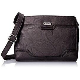 Rosetti Womens Hilary Faux Leather Textured Crossbody Handbag - Medium