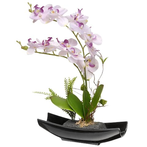 15 Potted Artificial Orchid Flowers