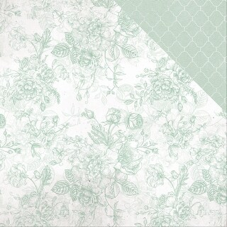"""Sage & Grace Double-Sided Cardstock 12""""X12""""-Mint"""