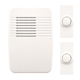 Heath Zenith SL-7367-02 Wireless Door Chime Kit, White