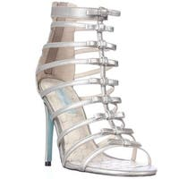 Blue by Betsey Johnson Tie T-Strap Bows Dress Sandals, Silver