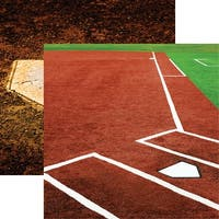 """Softball 2 Double-Sided Cardstock 12""""X12""""-Infield"""