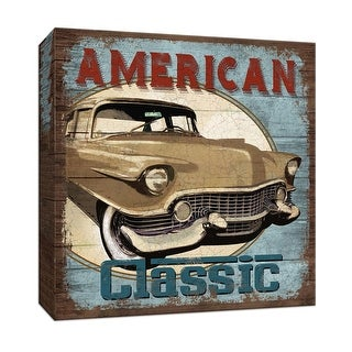 "PTM Images 9-146693  PTM Canvas Collection 12"" x 12"" - ""American Classic"" Giclee Cars Art Print on Canvas"
