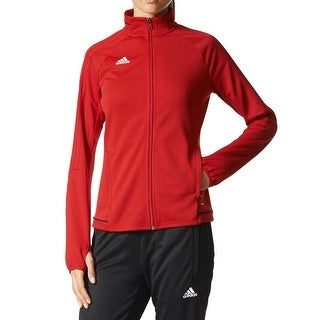 Adidas NEW Bright Red Womens Size Small S Fleece Track Running Jacket