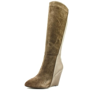 Charles By Charles David Easton Women Pointed Toe Suede Brown Knee High Boot