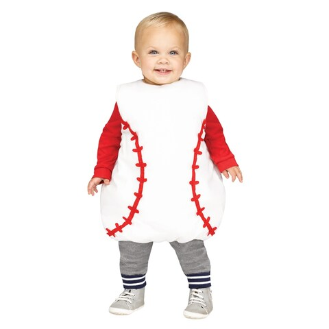 Toddler Baseball Tunic Costume Up to size 18 Months - one size (up to 18 months)