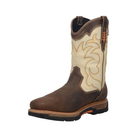 "Dan Post Western Boots Mens 11"" Waterproof Square Toe Bone"