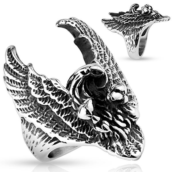 Flying Eagle Stainless Steel Ring (Sold Ind.)