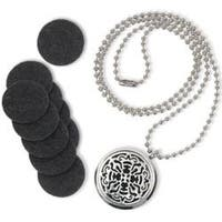 Round Locket W/Lace Design - Es-Scent-Ials Aromatherapy Lockets & Pendants
