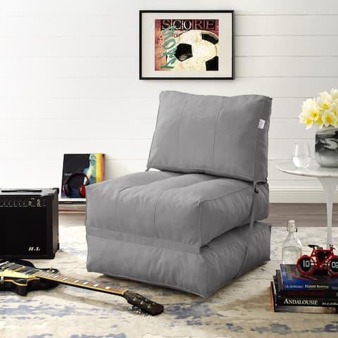 Porch & Den Keda Self Expanding Foam Indoor/ Outdoor Bean Bag