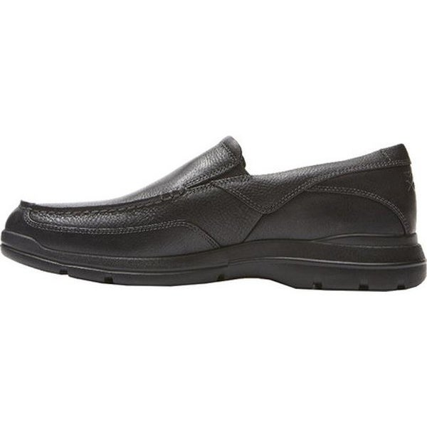 City Play Two Slip On Black Leather